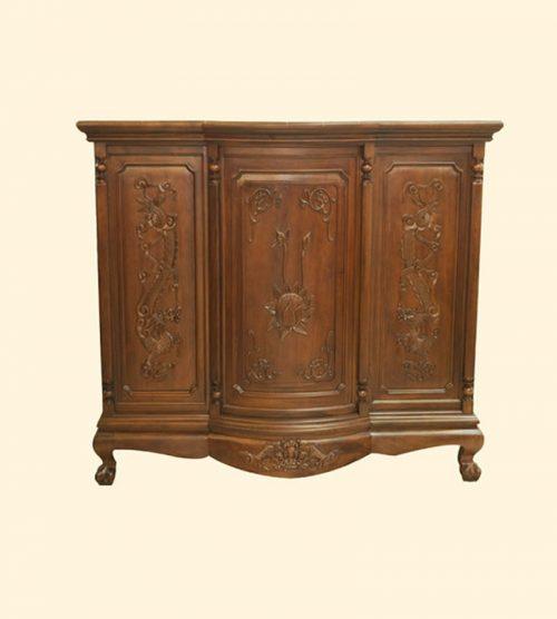 Mẫu Tủ thờ gia tiên gỗ QT332