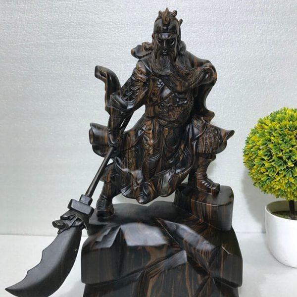 Tượng quan công gỗ mun đẹp