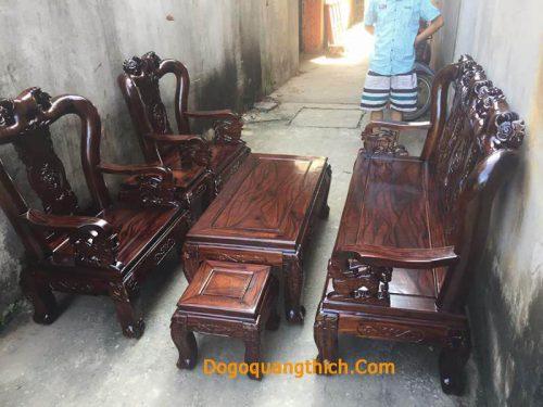 Bàn ghế phòng khách gỗ tràm