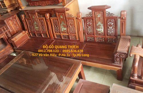 Bàn ghế tần thủy hoàng gỗ hương quảng ninh QT505