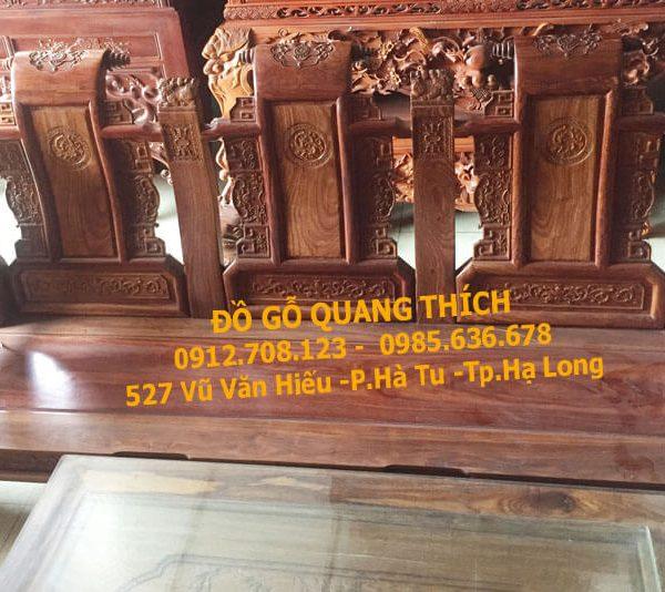Bàn ghế tần thủy hoàng gỗ hương cao cấp tại quảng ninh