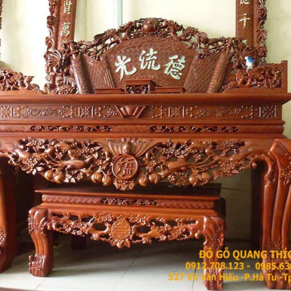 Bàn thờ chân quỳ gỗ mít QT1235