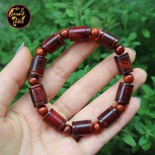 Vòng tay gỗ sưa đốt trúc 12mm vân siêu đẹp