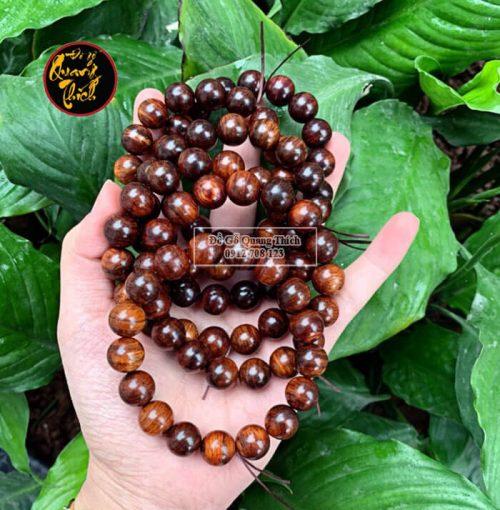 Vòng đeo tay gỗ sưa Quảng Bình 12mm vân siêu đẹp