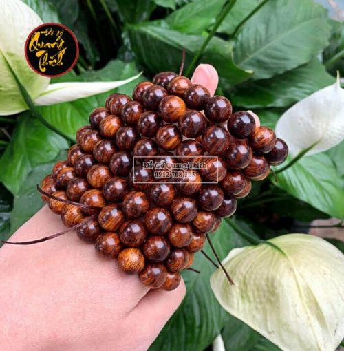 Vòng tay gỗ sưa Quảng Bình 12mm vân siêu đẹp
