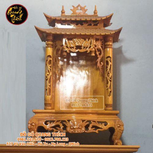 Bàn Thờ Thần Tài Gỗ Mít Cao Cấp 47x61x100cm