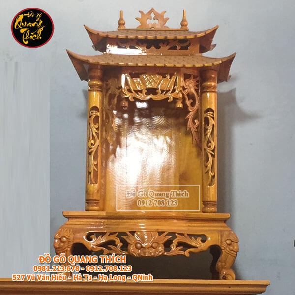 Bàn Thờ Thần Tài Gỗ Mít Cao Cấp 81x51x45cm
