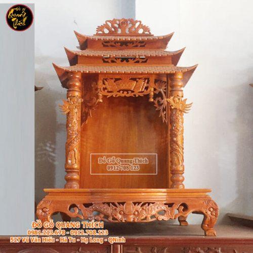 Bàn Thờ Thần Tài Gỗ Mít Cao Cấp 68x61x107cm