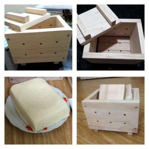 Khuôn làm đậu phụ bằng gỗ an toàn 5